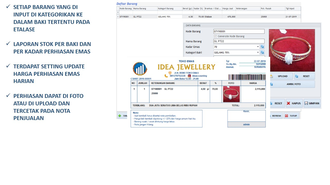 Software Toko Emas Terintegrasi Idea Jewelry