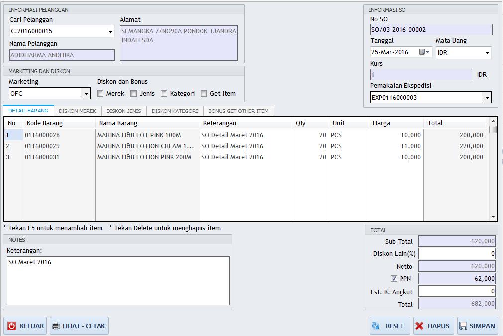 produk dan harga idea accounting